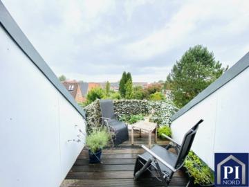 Tolle Dachgeschosswohnung mit großer Dachterrasse in zentraler Lage von Kiel!, 24106 Kiel, Dachgeschosswohnung